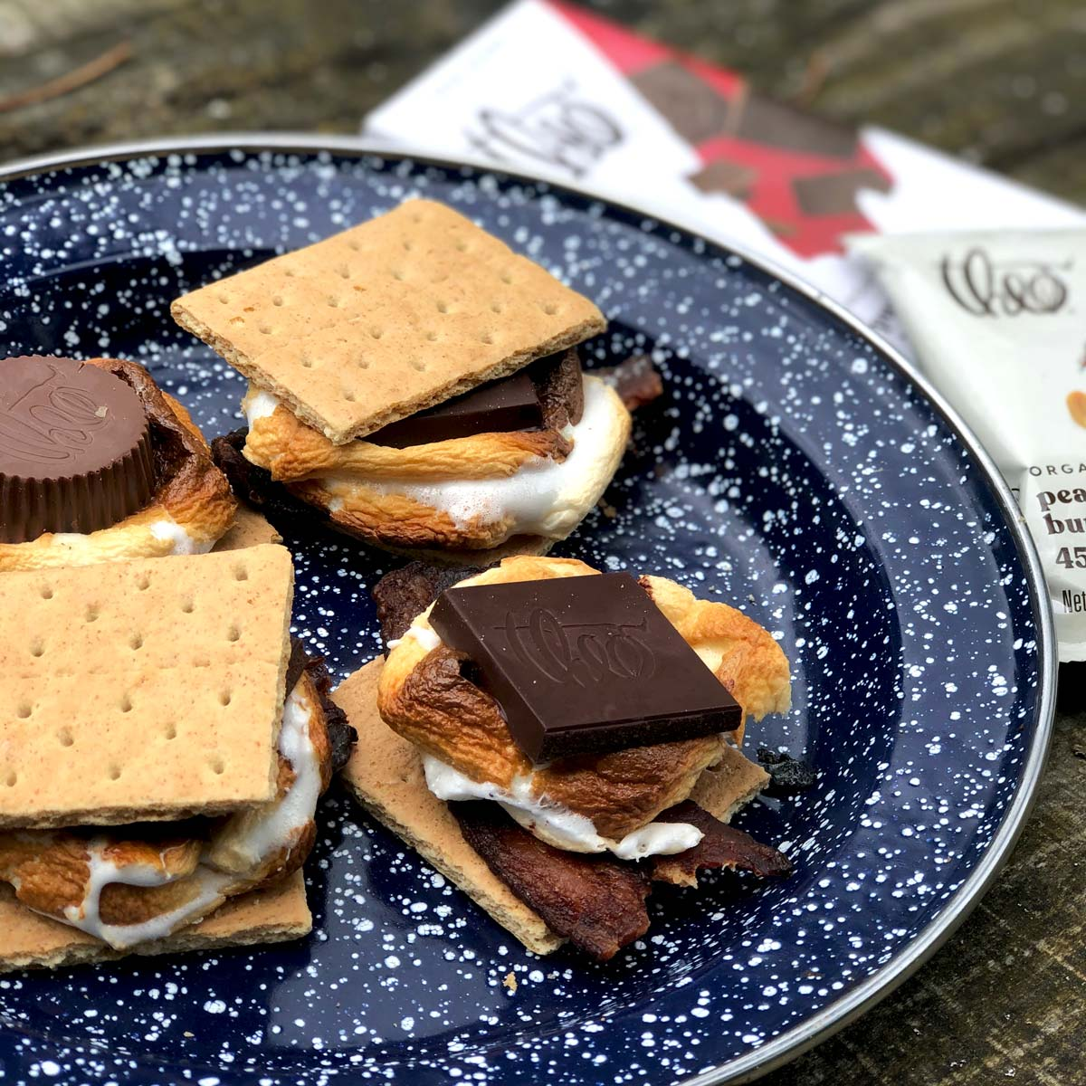 Candied Bacon & Dark Chocolate S'more